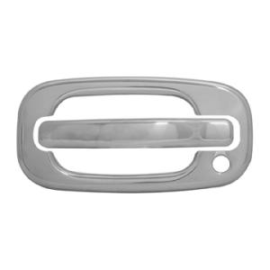 2002 GMC Sierra 1500 Hd Door Handle Cover Kit, Stainless Steel With Passenger Key Hole, 8 Piece, Including Door Handle/Housing