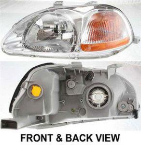 1997 Honda Civic Headlight, Driver Side