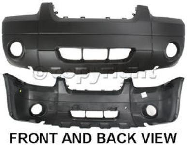 Front Bumper Cover For 2005-2007 Ford Escape XLT//Hybrid w//Fog Lgt Holes Textured