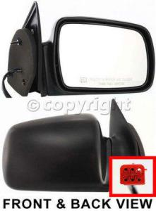1993 Jeep Grand Cherokee Mirror, Passenger Side